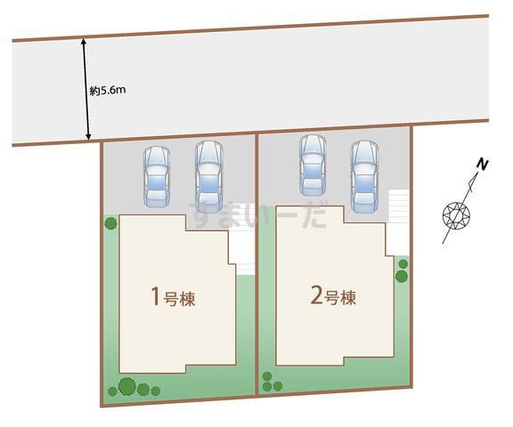 ハートフルタウン 仙台青山5期の見取り図