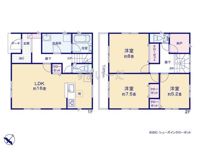 クレイドルガーデン 静岡市葵区上土 第3の見取り図