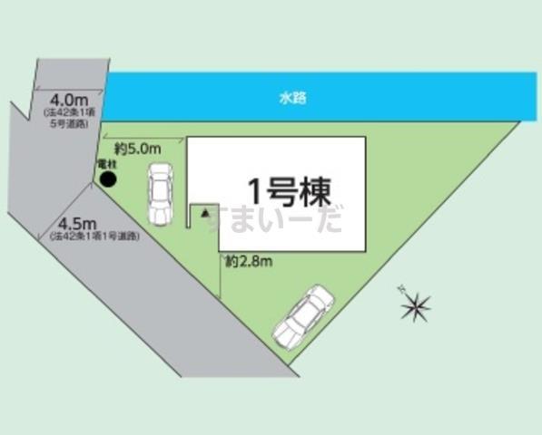 グラファーレ 会津若松市金川町3期1棟の見取り図