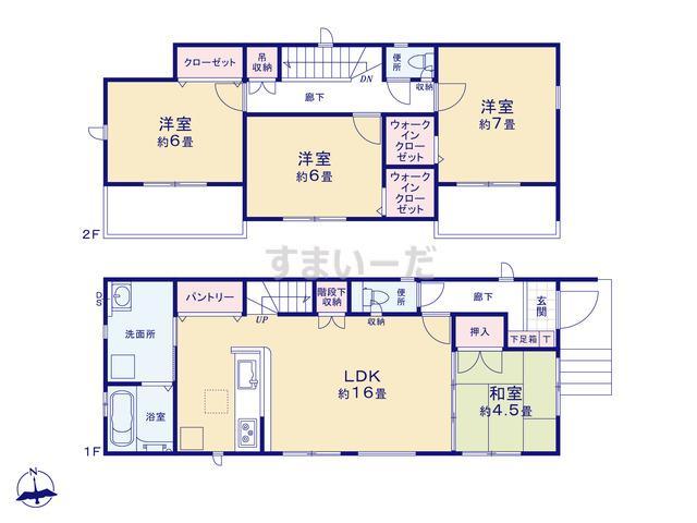 グラファーレ 福岡市梅林5期2棟の見取り図