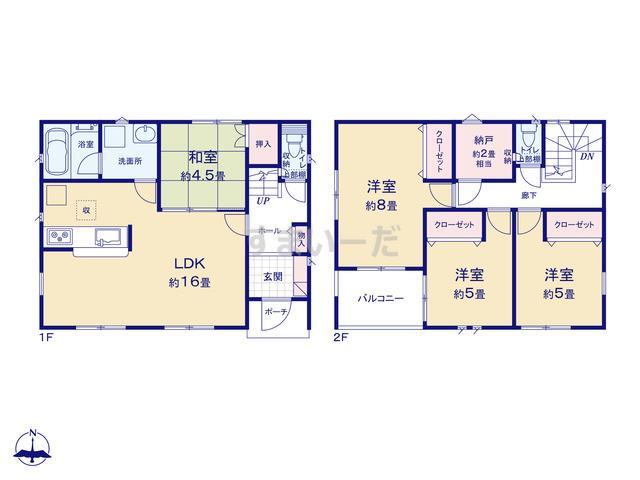 クレイドルガーデン 熊本市南区城南町下宮地 第2-II期の見取り図