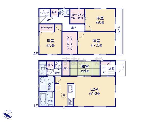 クレイドルガーデン 熊本市北区麻生田 第3の見取り図