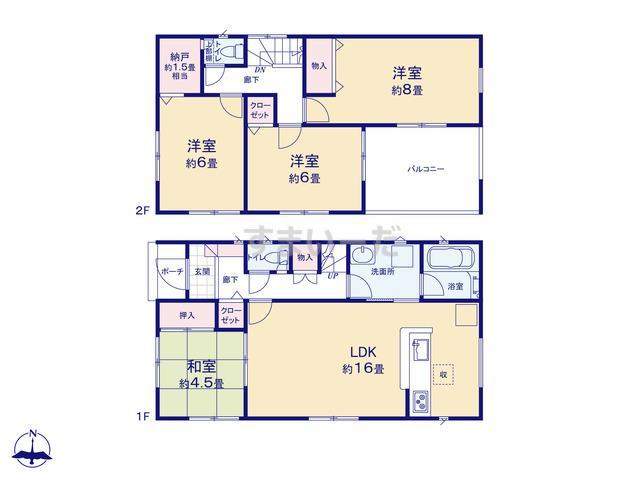 クレイドルガーデン 熊本市南区城南町下宮地 第2-III期の見取り図