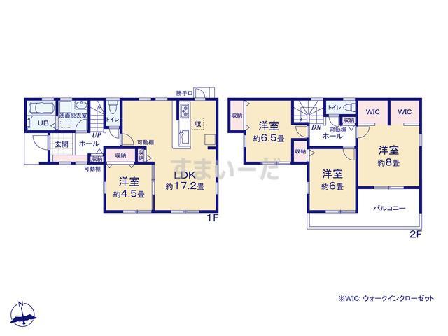 リーブルガーデン 南区田尻町3期の見取り図