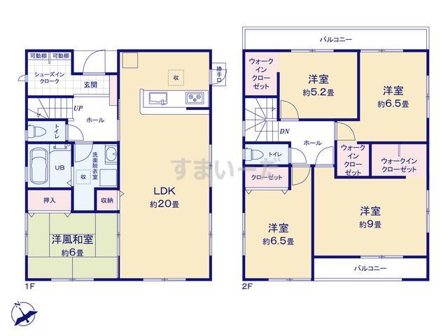 リーブルガーデン 堺西区浜寺諏訪森町西3期の見取り図