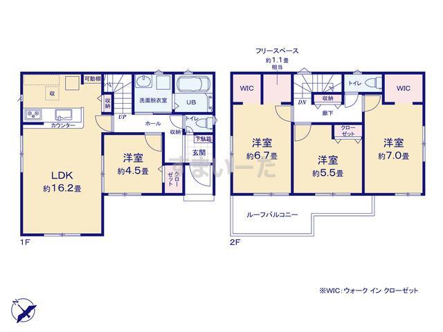 リナージュ 熊谷市赤城町21-1期の見取り図