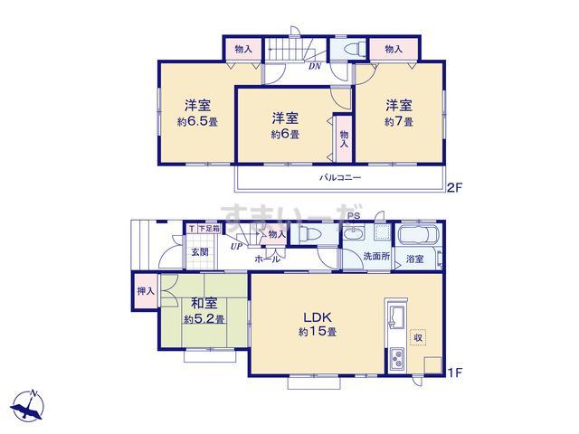 ハートフルタウン 越谷蒲生東町第1期の見取り図