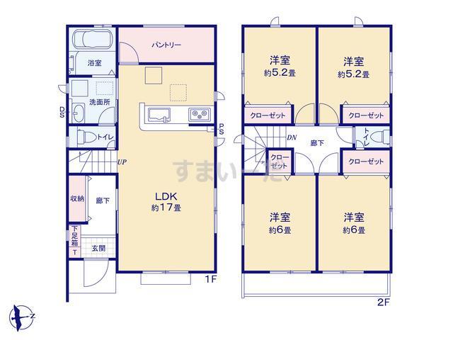 グラファーレ 平塚市四之宮3期1棟の見取り図