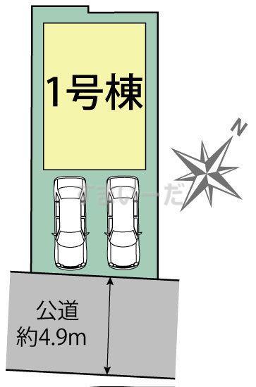 ブルーミングガーデン 福岡市博多区美野島1丁目1棟-長期優良住宅-の見取り図