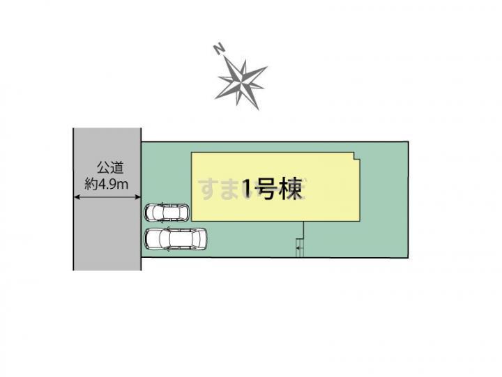 ブルーミングガーデン 広島市西区井口4丁目1棟の見取り図