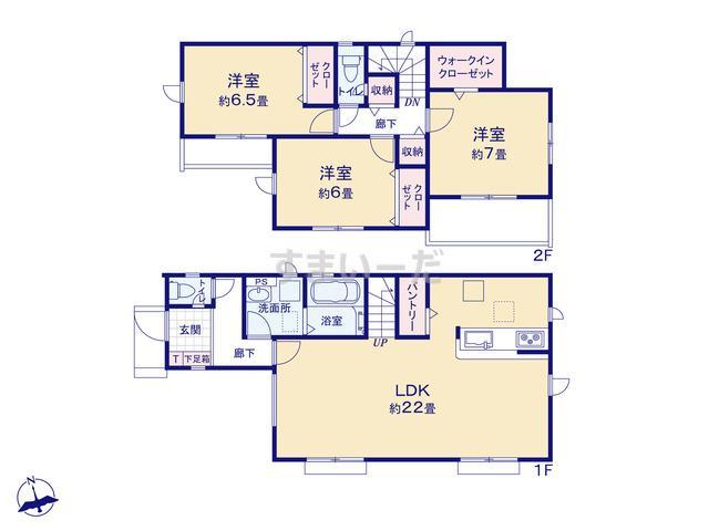 グラファーレ 武蔵村山市三ツ藤3期3棟の見取り図