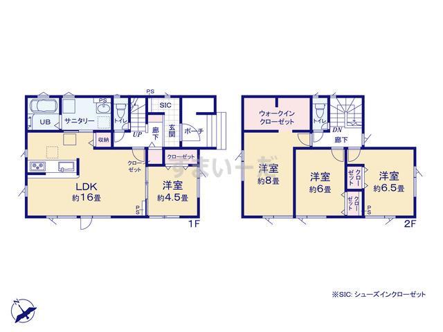 グラファーレ 札幌市清田3期1棟の見取り図