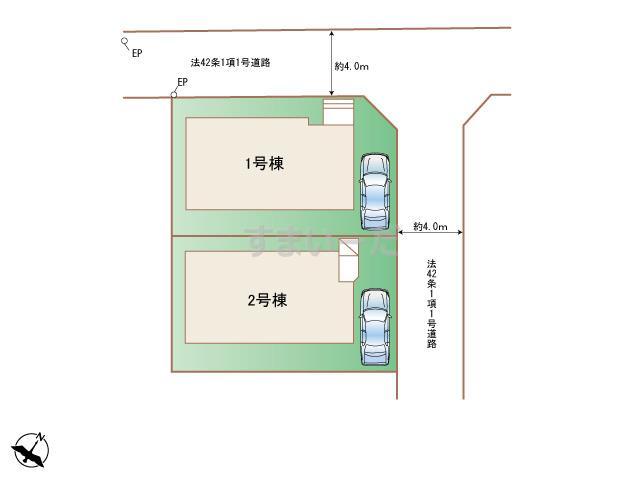 ハートフルタウン 相模原市南区南台4丁目4848番の見取り図