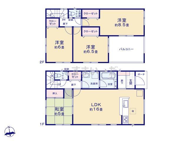 クレイドルガーデン 仙台市青葉区上愛子 第8の見取り図
