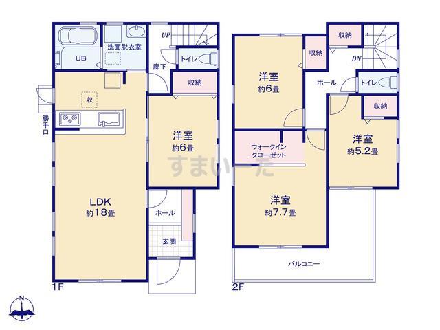 リーブルガーデン 東区笠井町3期の見取り図