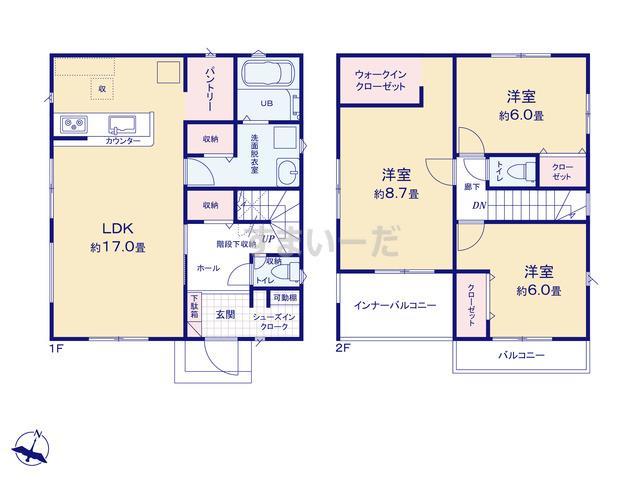 リナージュ 高砂市梅井21-1期の見取り図