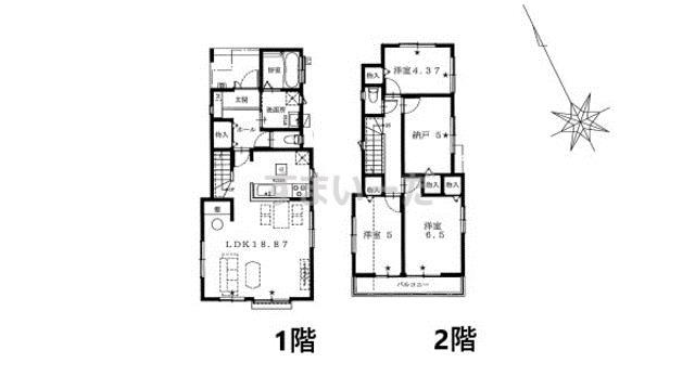 ハートフルタウン 浦安市富士見Ⅳ期(4期)の見取り図