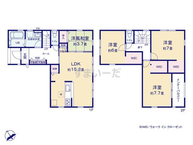リーブルガーデン 中央区窪田町第1の見取り図