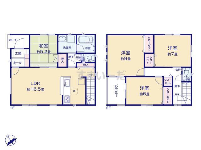 クレイドルガーデン 北九州市小倉南区下貫 第4の見取り図