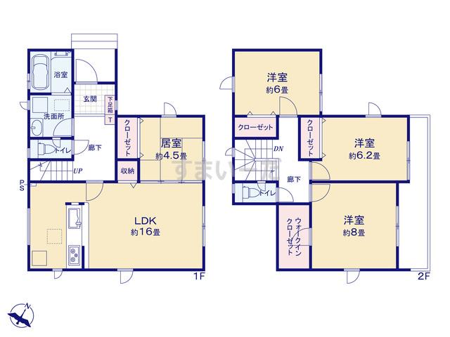 グラファーレ 新潟市浦山2期1棟の見取り図