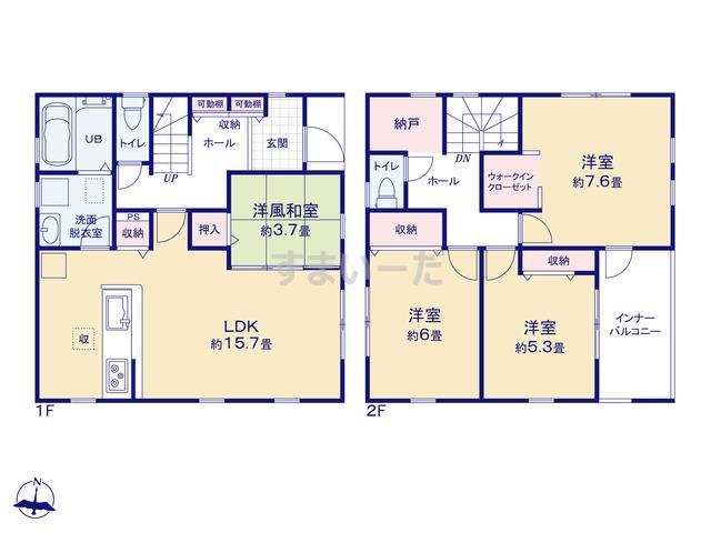 リーブルガーデン 浜松市中区西浅田の見取り図