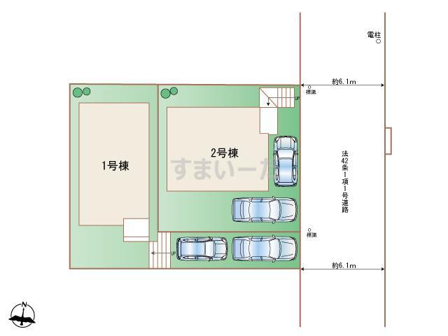 ハートフルタウン (西宮)神戸須磨区南落合の見取り図
