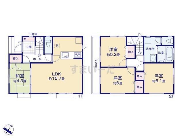 ハートフルタウン (小岩)葛飾区細田3丁目の見取り図