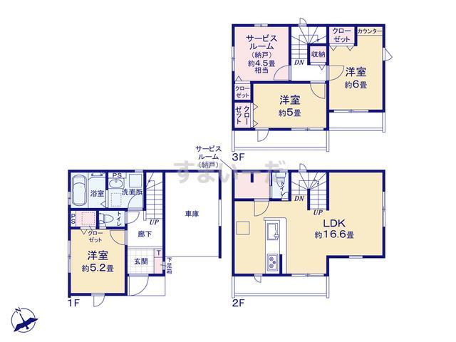 グラファーレ 朝霞市西弁財5棟の見取り図