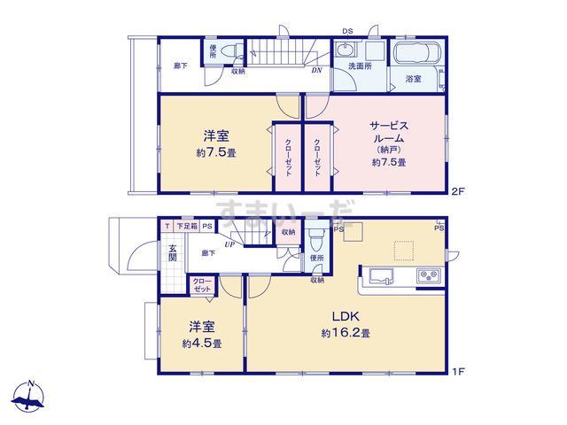 グラファーレ 平塚市田村3期1棟の見取り図