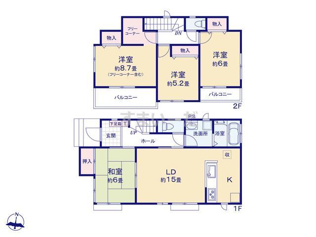 ハートフルタウン さいたま緑区三室第13期の見取り図