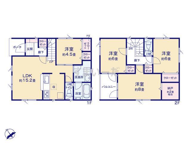 クレイドルガーデン 札幌市北区新琴似九条 第1の見取り図
