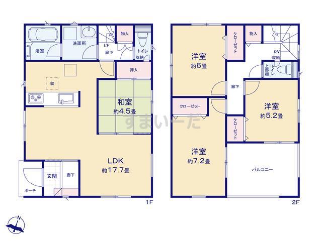 クレイドルガーデン 姫路市大津区平松 第6の見取り図