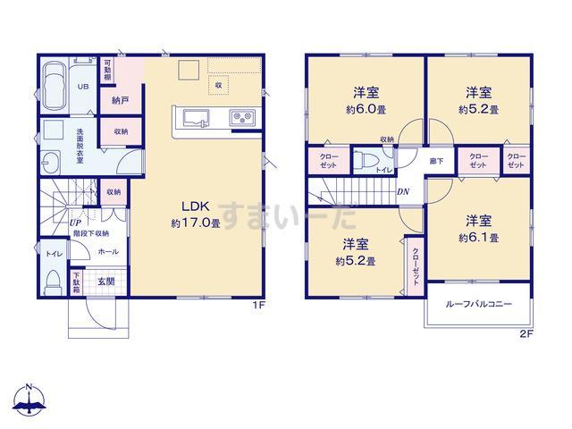リナージュ 平塚市南原21-1期の見取り図