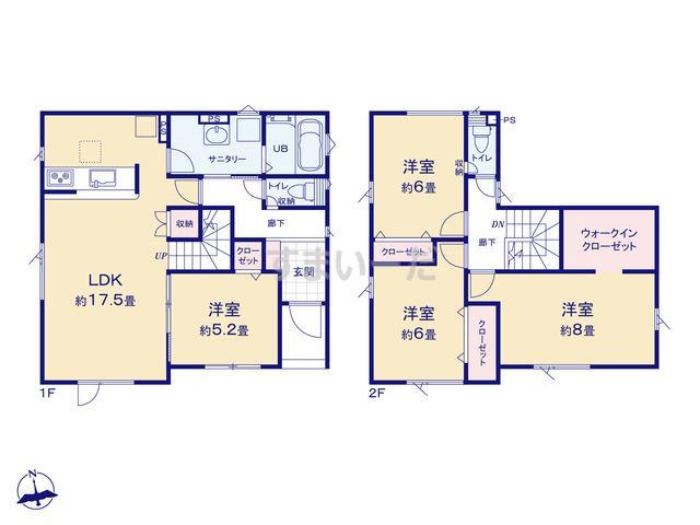 グラファーレ 札幌市真栄4期2棟の見取り図