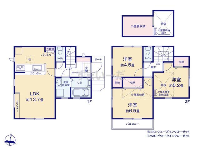 リーブルガーデン 小平小川町第四の見取り図