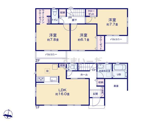 リナージュ 相模原市中央区陽光台21-1期の見取り図