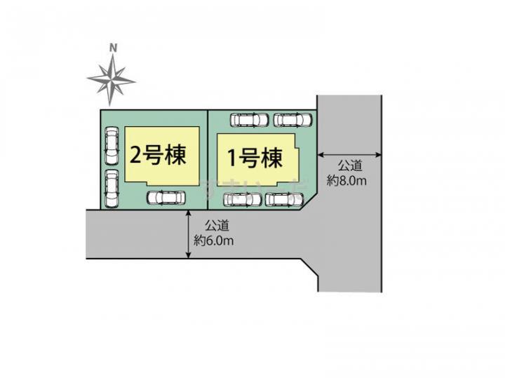 ブルーミングガーデン 札幌市南区藤野2条1丁目2棟の見取り図