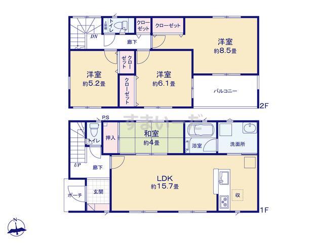クレイドルガーデン 小田原市久野 第36の見取り図