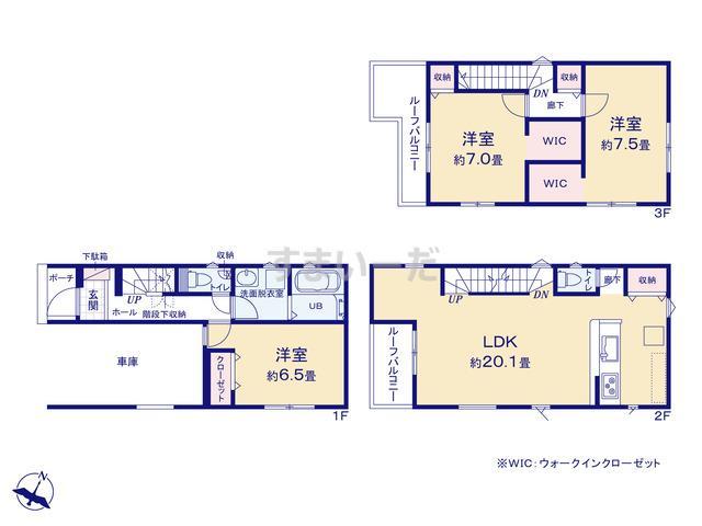 リナージュ 平塚市御殿21-1期の見取り図