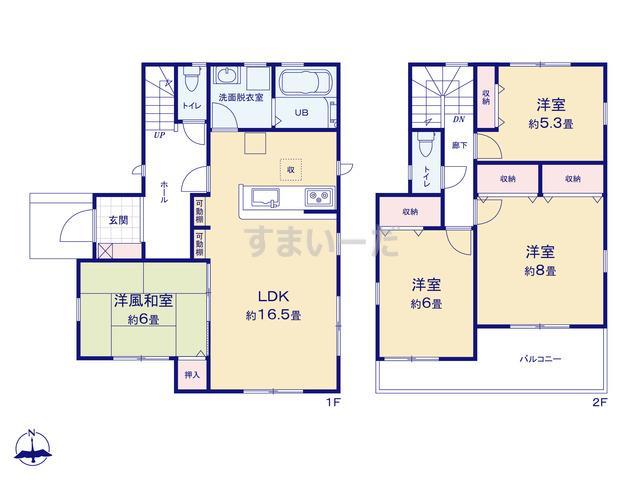 リーブルガーデン 堺市東区丈六2期の見取り図