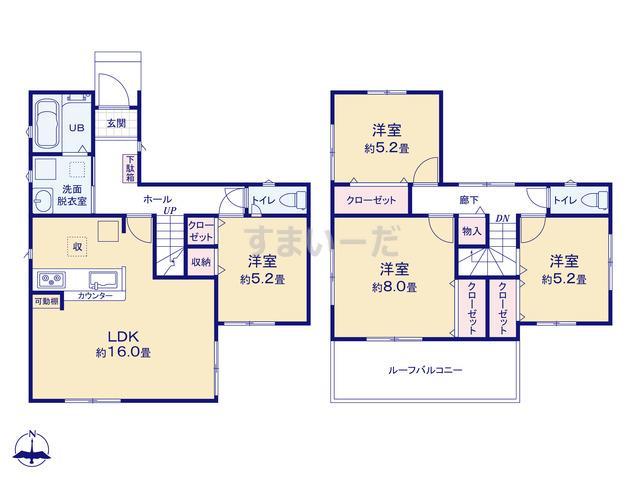 リナージュ 一宮市大和町毛受21-1期の見取り図