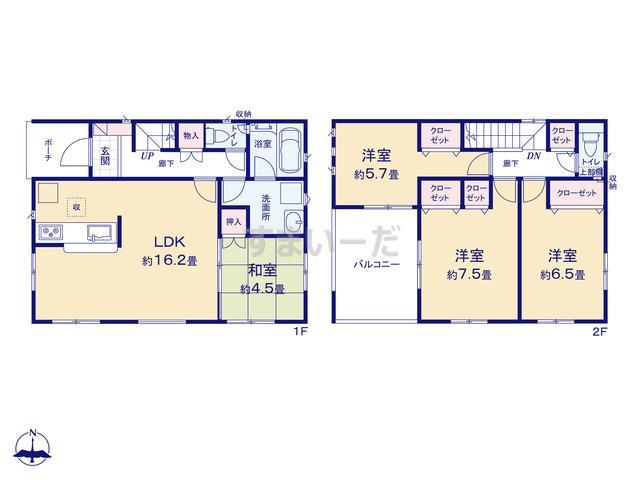 クレイドルガーデン 姫路市網干区浜田 第8の見取り図