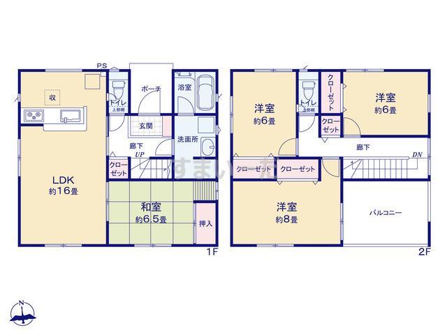 クレイドルガーデン 松本市惣社 第1の見取り図