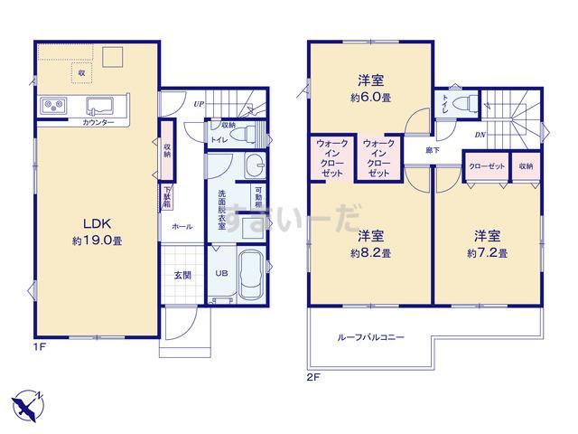 リナージュ 千葉市若葉区桜木北20-1期の見取り図