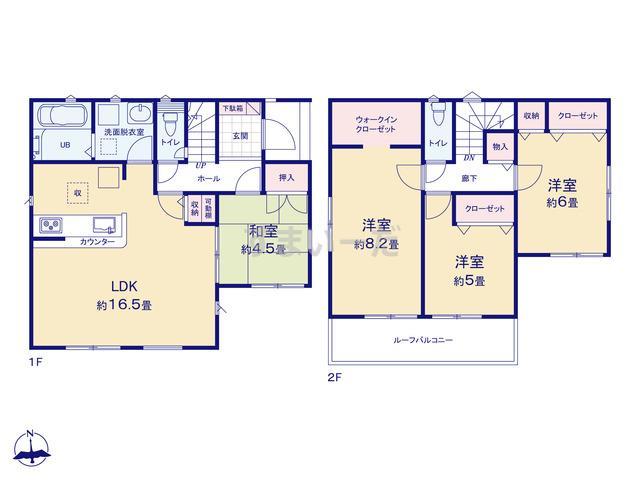 リナージュ 大和高田市西坊城20-2期の見取り図