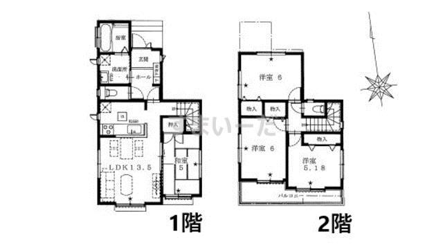 ハートフルタウン 江戸川区鹿骨5期の見取り図