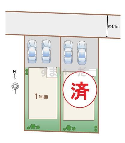 ハートフルタウン 所沢花園3期の見取り図
