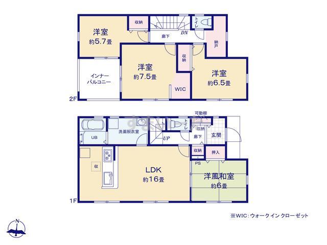 リーブルガーデン 第2富岡富岡の見取り図