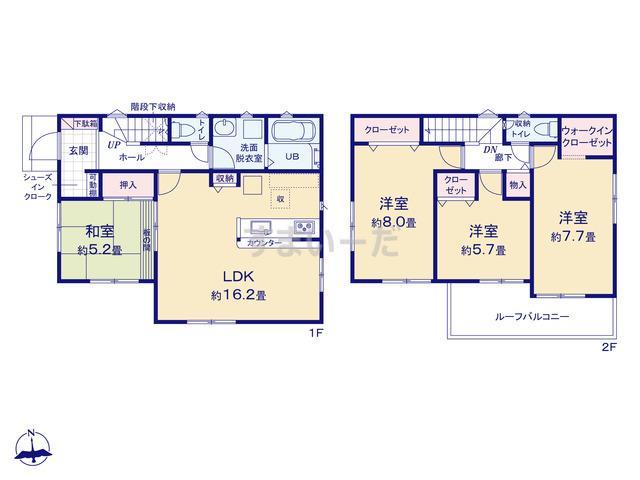 リナージュ 大和高田市西坊城20-1期の見取り図