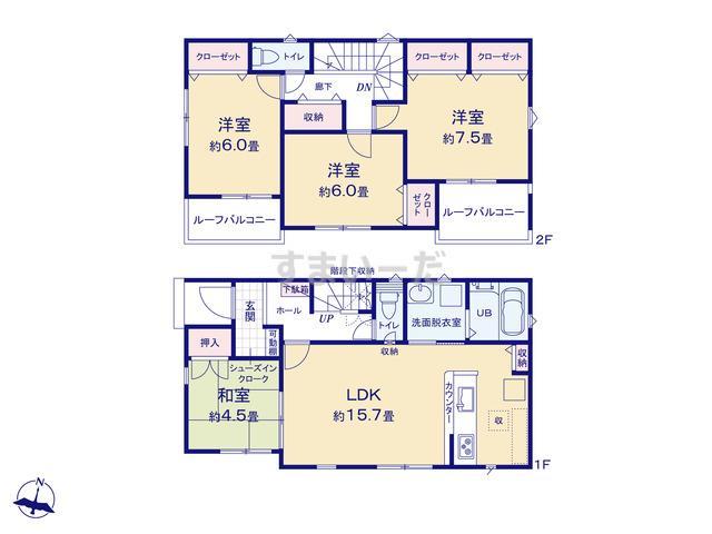リナージュ 香取市佐原イ21-1期の見取り図